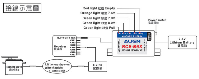 6A External BEC w/ 5.1V Two-way Step-down voltage K10382A