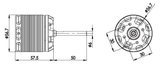 hml80m06 align 800mx brushless motor 520kv  for t-rex 700  800e