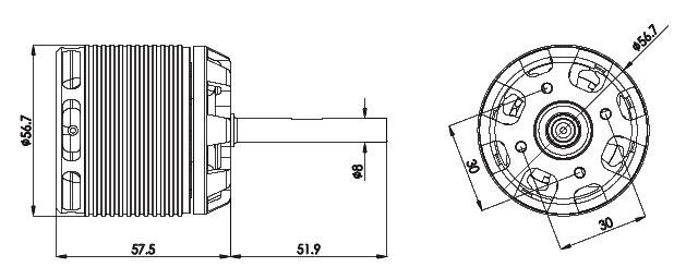 800mx brushless motor 520kv  4530  hml80m12