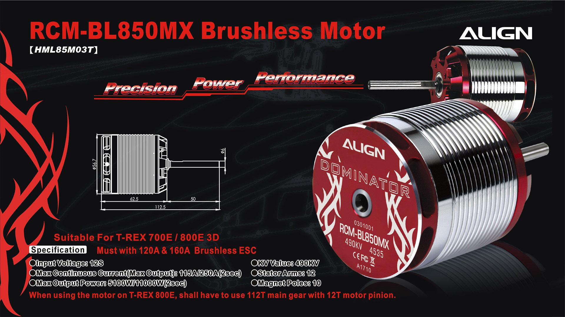 Align Hml85m03 850mx Brushless Motor 490kv Buy Now
