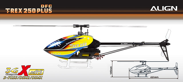 T-REX 250 PLUS DFC RTF (Ready to Fly) RH25E04X