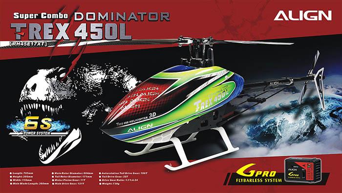 RH45E17XW T-REX 450L Dominator Super Combo 6S (SOLD OUT)