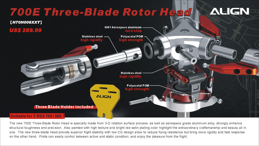 700e 700x three blade rotor head h70h008xx rh aligntrexstore com T-Rex 700 Manual T-Rex 700 Specs