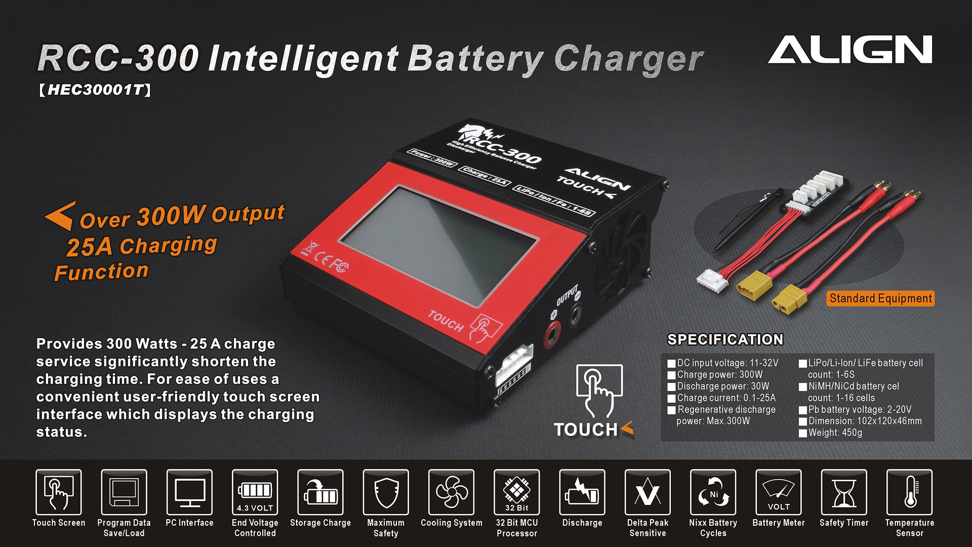 Service Battery Charging System >> RCC-300 Battery Charger HEC30001