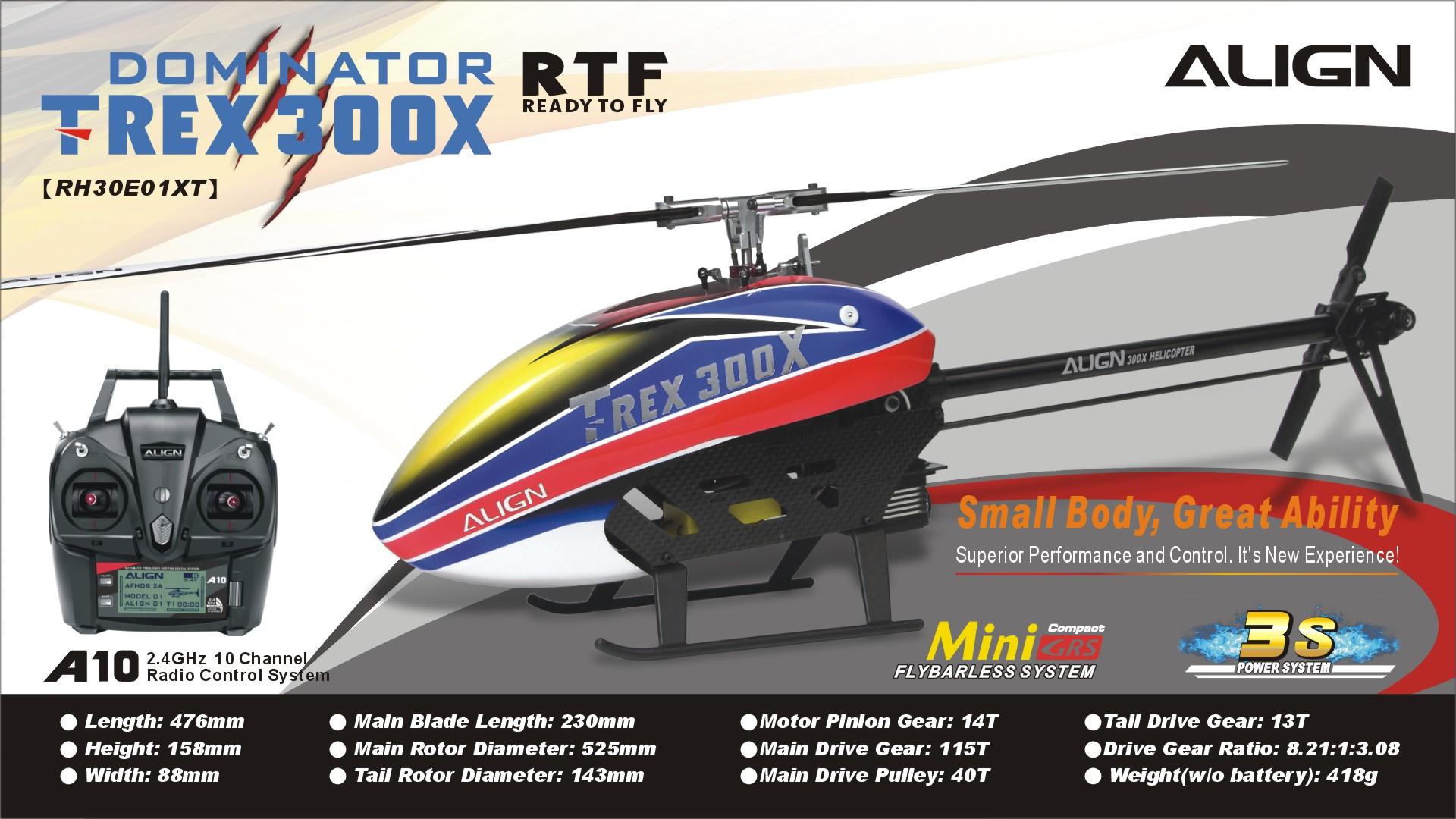 Align T-REX 300X Super Combo RTF RH30E01X